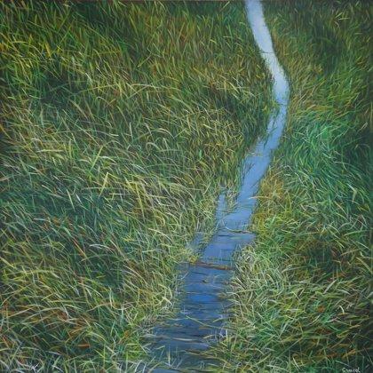 Everglades V 90x90cm