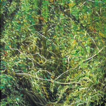 Manglar n°2 40x80cm acrylique s/toilei